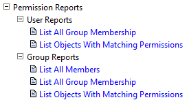 Permissions Reports